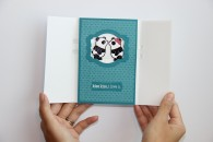 Panda Kissing Card